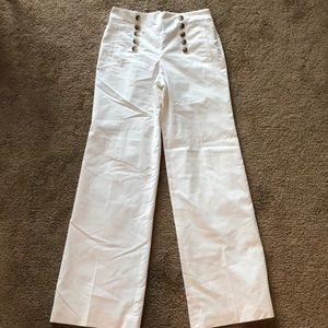 White Ann Taylor NEW NWT Sailor Trousers Pants